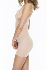 luster camisole dress nude