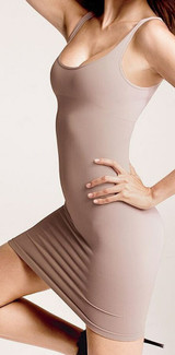 Cass Luxury Shapewear Skinny Scoop Neck Dress Nude