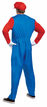 Mario Deluxe Adult Costume back