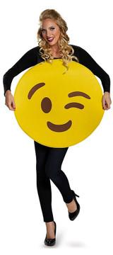 Emoticons Wink Adult Costume back