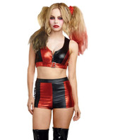 harley quinn hi waist shorts for women