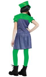 Pretty Luigi Plumber Costume back