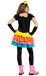 Day of the Dead Costume Child back