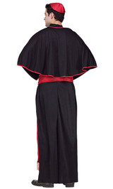 Cardinal Cassock Priest Costume back