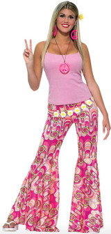 60's Flower Power Bell Bottoms