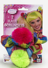 circus clown hair scrunchies prop