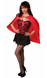 Fantasy Red Short Cape back