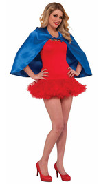 Fantasy Blue Short Cape back