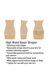 Firm Control  High Waist Boxer back