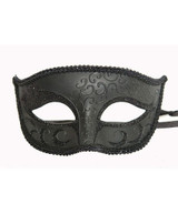 classic venetian mask in black