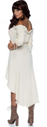 Gauze Peasant Dress Ivory