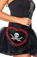 black heart pirate prop purse