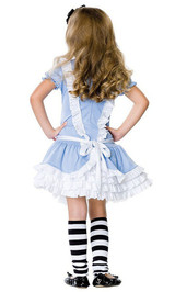 Alice Wonderland Girl Costume back
