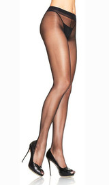 Spandex Sheer Pantyhose Black