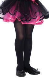 Girls Opaque Black Stockings