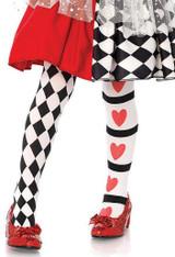Harlequin & Heart Child Tights