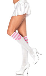 Sweetheart athletic knee socks