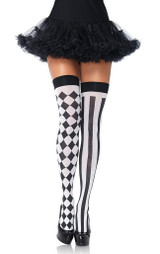 Harlequin Thigh Highs