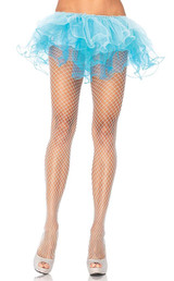 Plus White Spandex Net Pantyhose