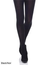 Mondor Merino Wool Tight with Ribbed Pattern Black