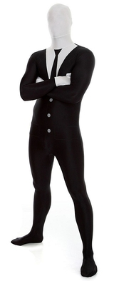 Slenderman / Suit Morphsuit Costume back