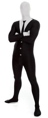 Slenderman / Suit Morphsuit Costume back