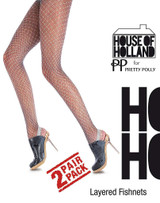 Pretty Polly House of Holland Layered Fishnets
