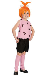 Girl Flintstones Pebbles Costume