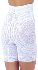 Rago Lacette High Waist Leg Shaper White Plus