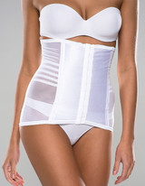 Rago Waist Cincher White Plus