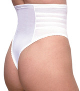 high waist white regular and plus size thong