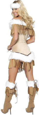 Indian Snow Princess Costume back
