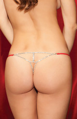 Diamond Back G-String Red back