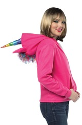 unicorn pink adult hoodie
