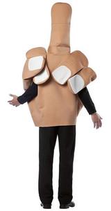 The Finger Adult Costume back