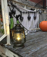 Light Up Silver Antique Lantern Deluxe Decor 11""