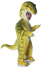 green dinosaur trex costume