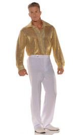 Disco Gold Sequin Shirt back
