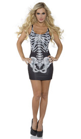 skeleton bones dress
