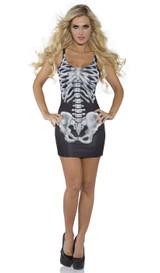 skeleton bones dress