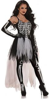 Sexy Skeleton Woman Costume