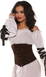 Brown Waist Cincher back