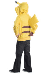 Pikachu Kids Hoodie With Tail back