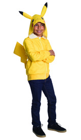 tween hoodie with tail pikachu themed