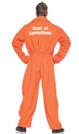 Prisoner Jumpsuit Costume back