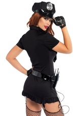 Dirty Cop Womens Costume back