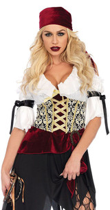 High Seas Wench Peasant Dress back