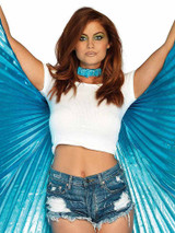 Pleated Halter Isis Wings
