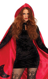 Satin Red Riding Hood Cape back