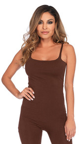 basic unitard in brown